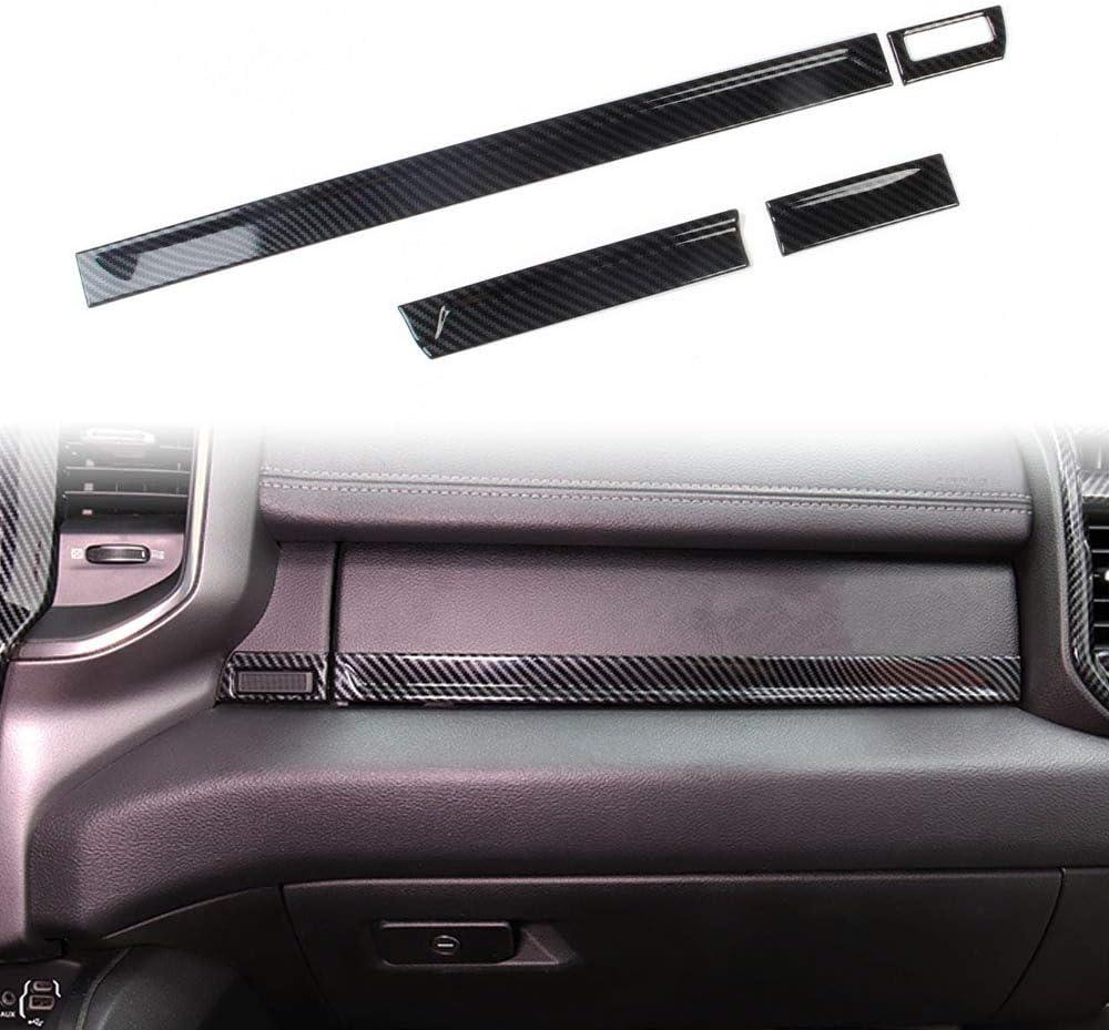 Korlot Dashboard Instrument Panel Strip Decor Cover Trim for Dodge Ram 1500 2019+
