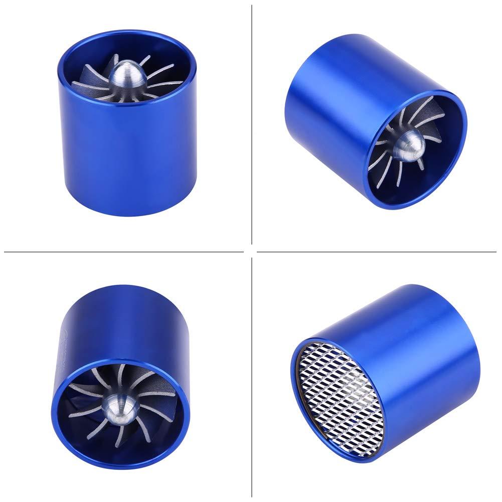 ahorro de gasolina y cargador turbo turbina super cargador Keenso Turbonador de entrada de aire de aleaci/ón de aluminio para coche 55 mm