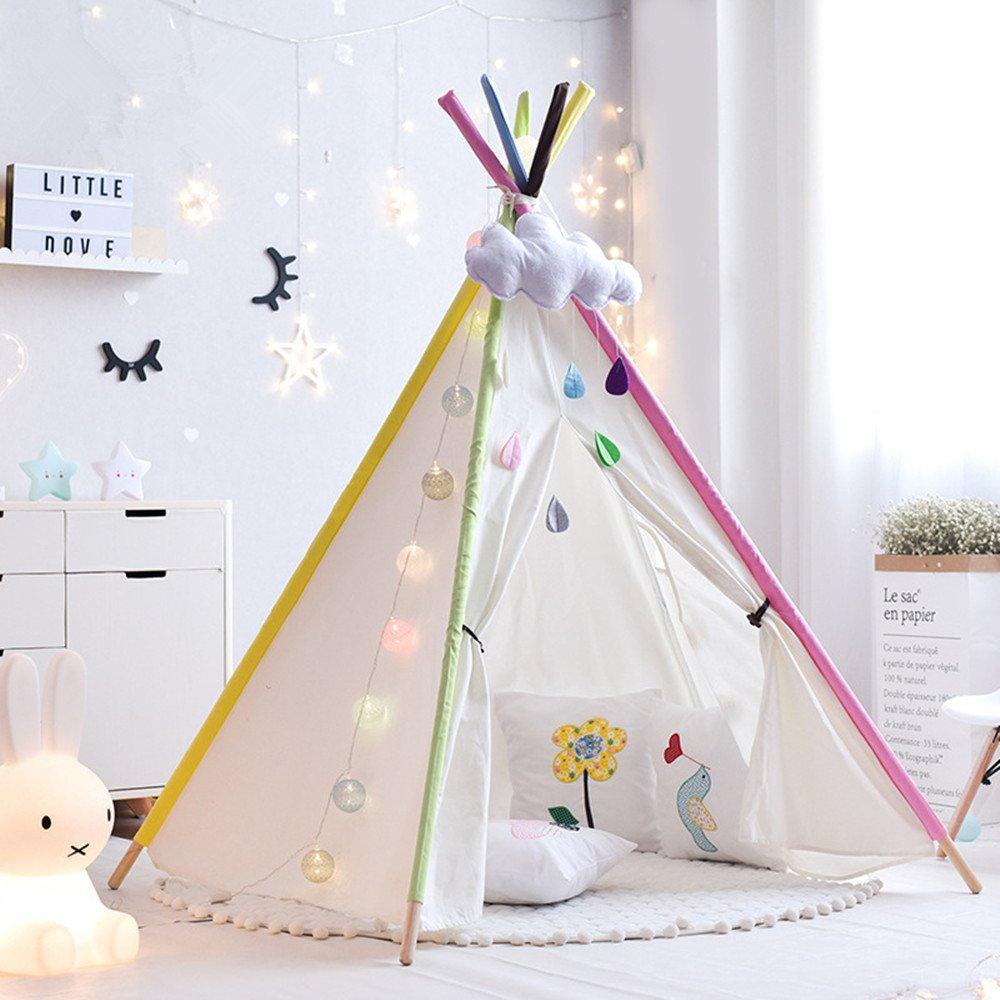 Rwy Indisches Prinzessin-Zelt-Innen- Und Tragbares Spielzeug-Spielhaus Im Freien,Natural
