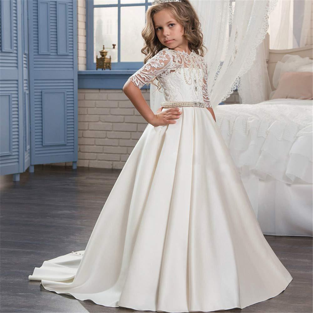 10-11T Chlyuan Robes De Mariage Robe de mariée pour Enfants Longue Tenue de soirée Longue Robe de soirée de fête pour Fille (Taille   10-11T)