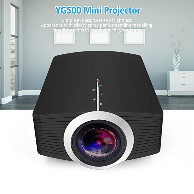 GUORZOM Lo Nuevo YG500A Mini Proyector 1080 P 1800 Lúmenes ...