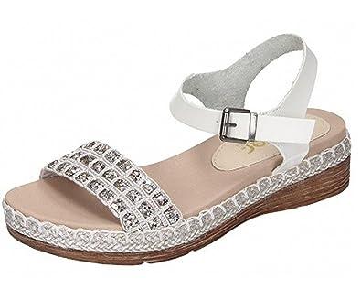 Weiß 3Grösse Sandalette 910828 40 Rieker Damen xthdCQsr