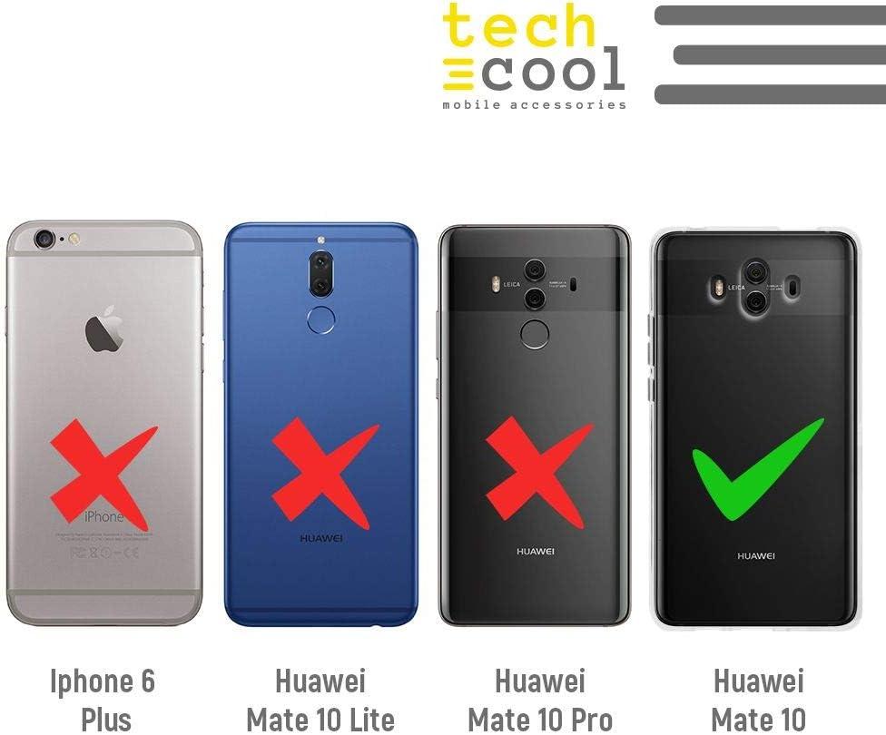 Bandera Espa/ña Transparente Gel Silicona Flexible, Dise/ño Exclusivo Funnytech/® Funda Silicona para Huawei Mate 10