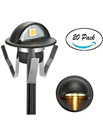 Deck lights amazon fvtled pack of 20 warm white low voltage led deck lights kit 138 aloadofball Image collections