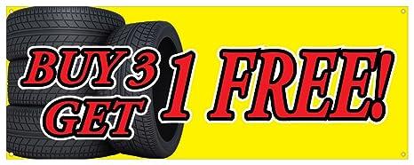 Buy 3 Get 1 Free Tires >> Amazon Com Buy 3 Tires Get 1 Free Banner Car Truck