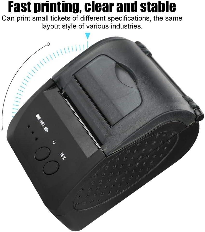 Impresora térmica USB, 48mm Mini portátil inalámbrico Bluetooth ...