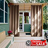 OVER ALLImpress your friends, family and guests with NICETOWN Ready Made Indoor /Outdoor Solid Grommet Top Curtain Panels.These simple yet elegant panels are a nice finishing touch to any outdoor extension of your home.FEATURESUV RAY Protection: ★★★★...