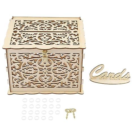 Amazon.com: Wifehelper Caja de tarjetas de boda con llaves ...