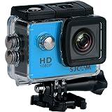 """SJCam SJ4000 Action Camera da Sport, FHD, 12 MP, Schermo da 2"""", Blu [Versione EU]"""