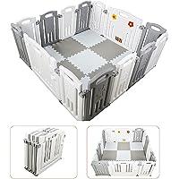 Parque de Bebe XL Plegable + Alfombra Puzzle / Incluye alfombra puzzle 16 piezas / Multiples Formas de Montaje / Plegado…
