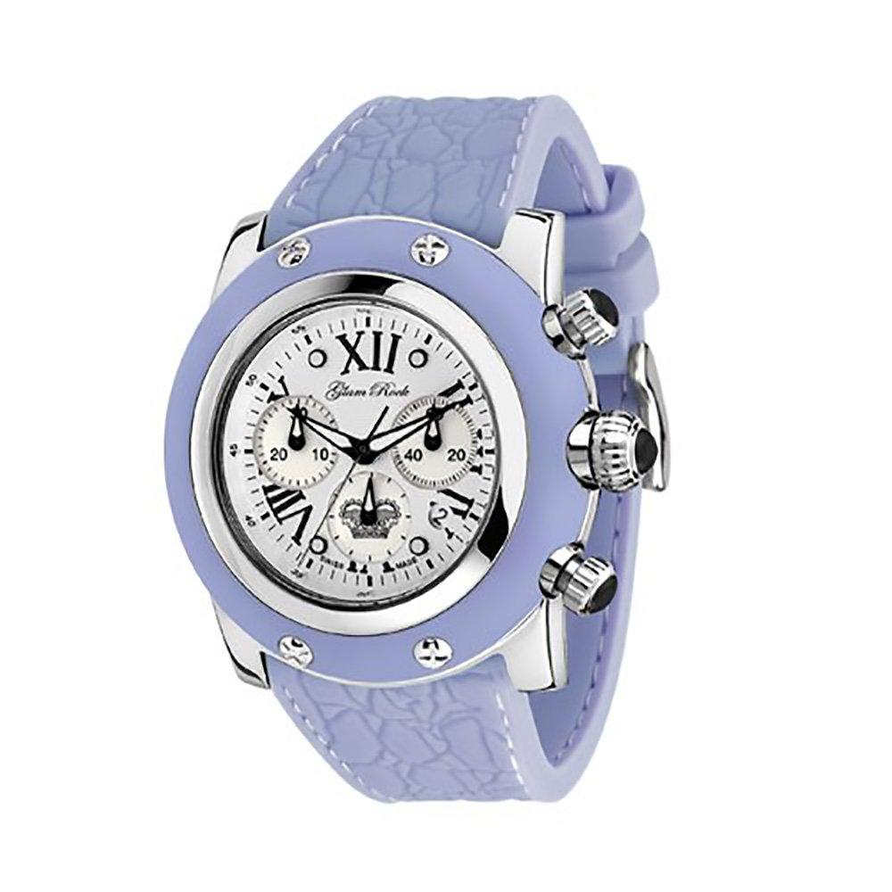 Glam Rock Women's GR30108 Summer Collection Chronograph Blue Silicone Watch
