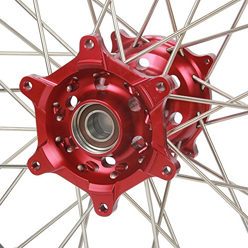 1.6x21'' 2.15x19'' Wheels Rims & Hubs & Spokes & Front Rear Brake Disc & Sprocket & Spacer Raiser - Honda CRF250R 15-17 CRF450R 15-17 by Unknown (Image #5)