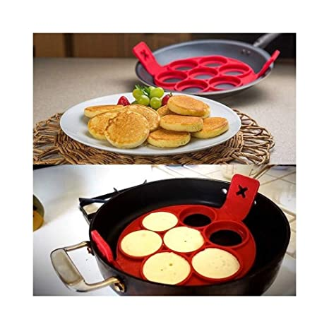 tradeshoptraesio® – Molde de silicona para pancakes Cocina tortitas antiadherente sartén tortilla