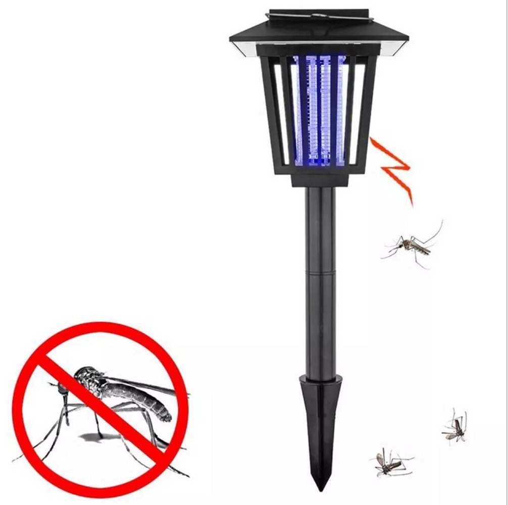Syhonic Solar Insect Zapper Light,Mosquito Insect Killer Indoor Outdoor Flying Pest Trap Lamp Portable Garden Lawn Light- Best Stinger for Mosquitoes/Moths/Flies - Black