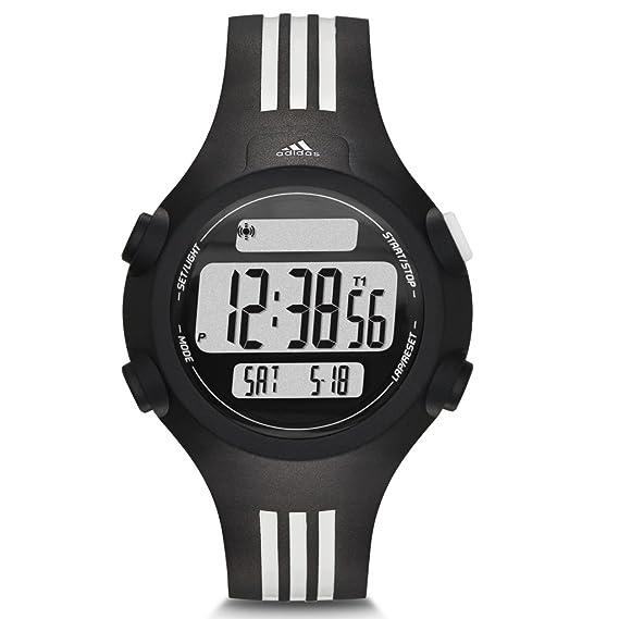 adidas adp6085 Reloj Hombre Reloj plástico plástico 5 Bar Digital Fecha Luz Alarma Temporizador Negro: Amazon.es: Relojes