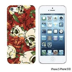 OnlineBestDigital - Skull Pattern Hardback Case for Apple iPhone 5S / Apple iPhone 5 - Skull With Red Rose
