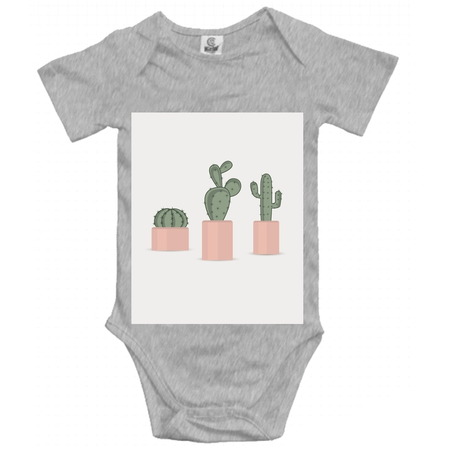 f1d29e03f5c0 Amazon.com  Cactus in A Flower Baby Cotton Short Sleeve Bodysuit ...