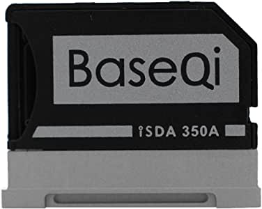 "BASEQI aluminium microSD-adapter voor Microsoft Surface Book & Surface Book 2 Surface Book & Surface Book 2 13.5"" (model-350A)"