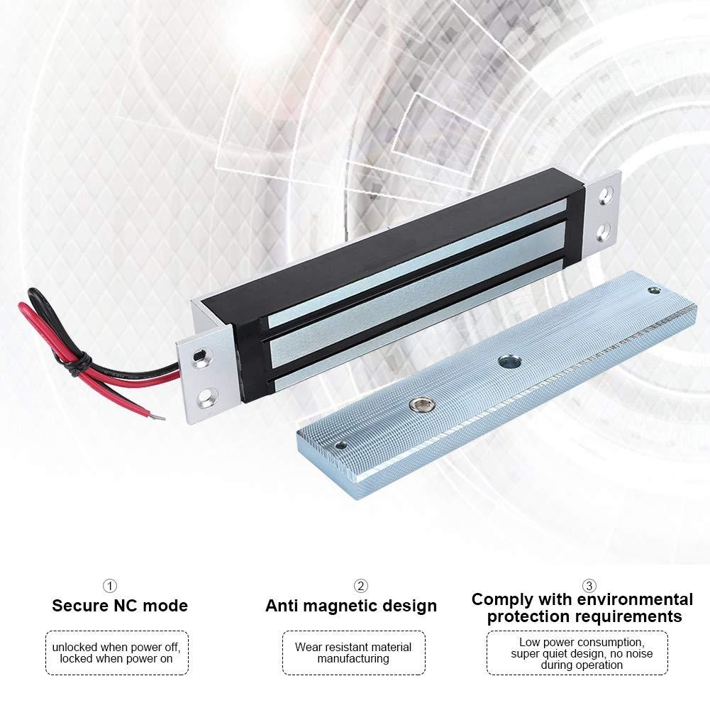 600Lbs Serratura magnetica elettrica Forza di tenuta Serratura dellelettromagnete Modalit/à NC sicura DC12V 280kg