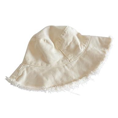 MSYOU Unisex Cloth Bucket Hat Foldable Summer Sun Hat Women Girls Outdoor  Hats for Beach Fishing 61f6cf1cc