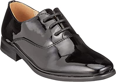 Goor Boys Patent Leather Lace-Up Oxford