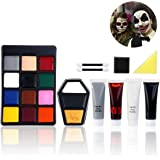 PBPBOX Unomor Halloween Makeup Face Painting Kit for Zombie Vampire Witch