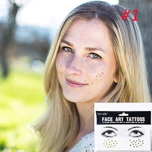 adgkitb 5piezas Desechables Tatuaje Facial Pegatinas Impermeables ...