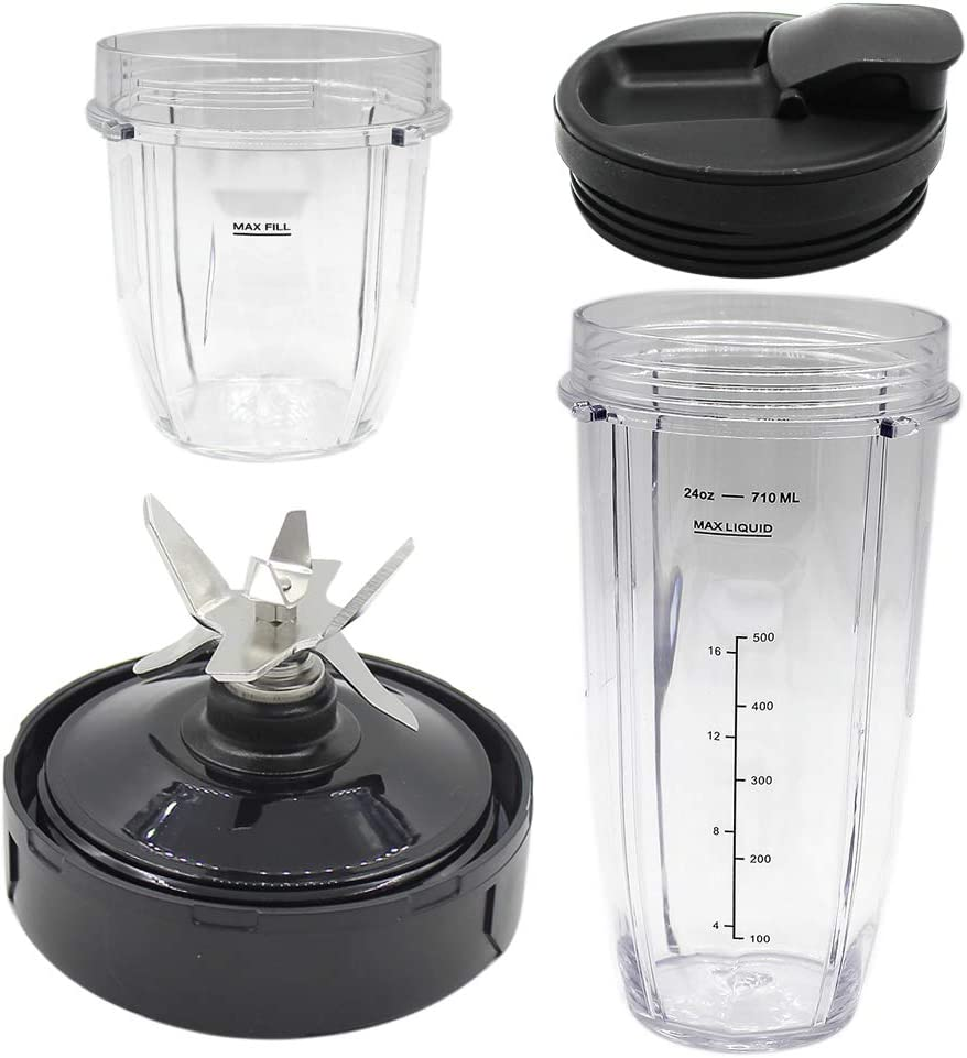 Anbige Replacement Parts 7-Fins Blade and cup, Compatible with Ninja Blender Chef 1500W CT805 CT810 and CT815A (4)