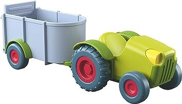 Traktor mit Anhänger Puppe Kleinkindspielzeug Haba 303131 Little Friends