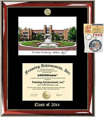Florida A/&M University FAMU Emboss Graduation Award Diploma Lithograph Plaque Document Degree Framing Logo Seal Gift Custom