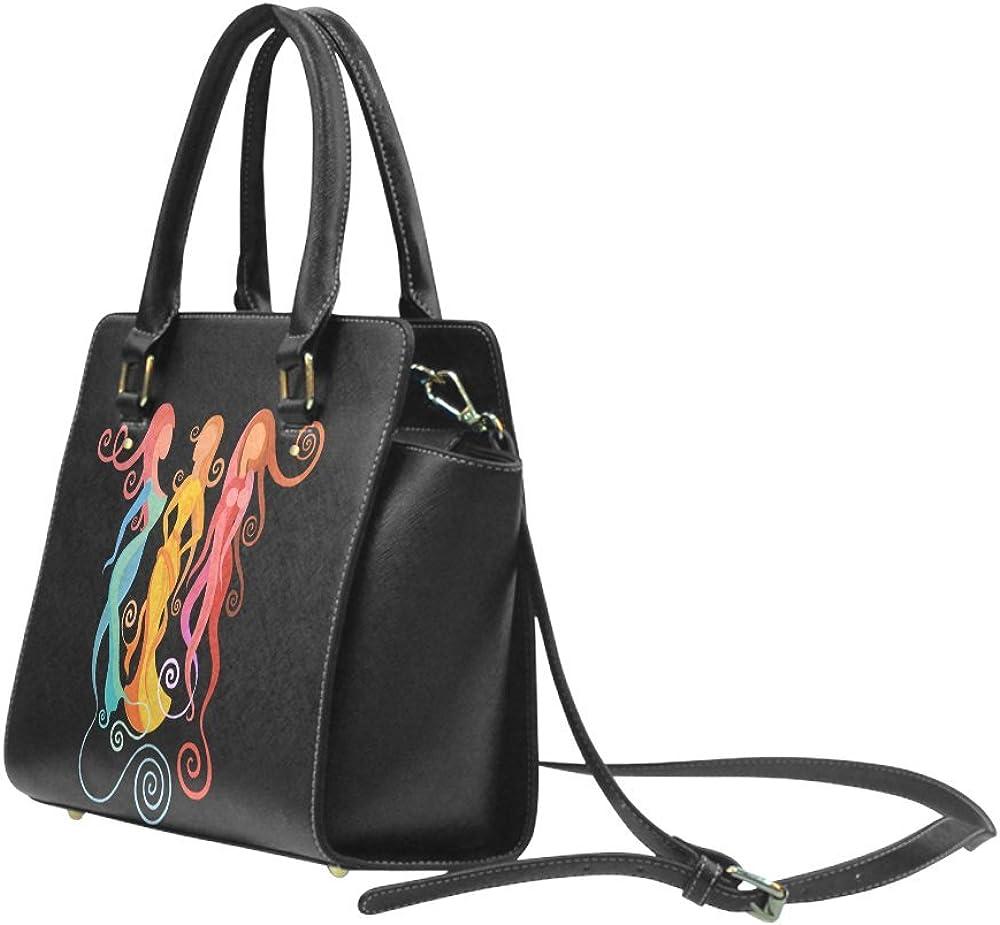 women Classic Women Top Handbag Shoulder Bag Interestprint Custom Mingle abstract painting