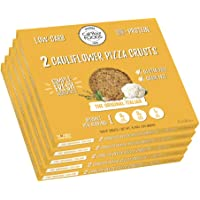 Cali'flour Foods Gluten Free, Low Carb Califlower Original Italian Pizza Crusts - (10 Total Crusts, 2 Per Box)