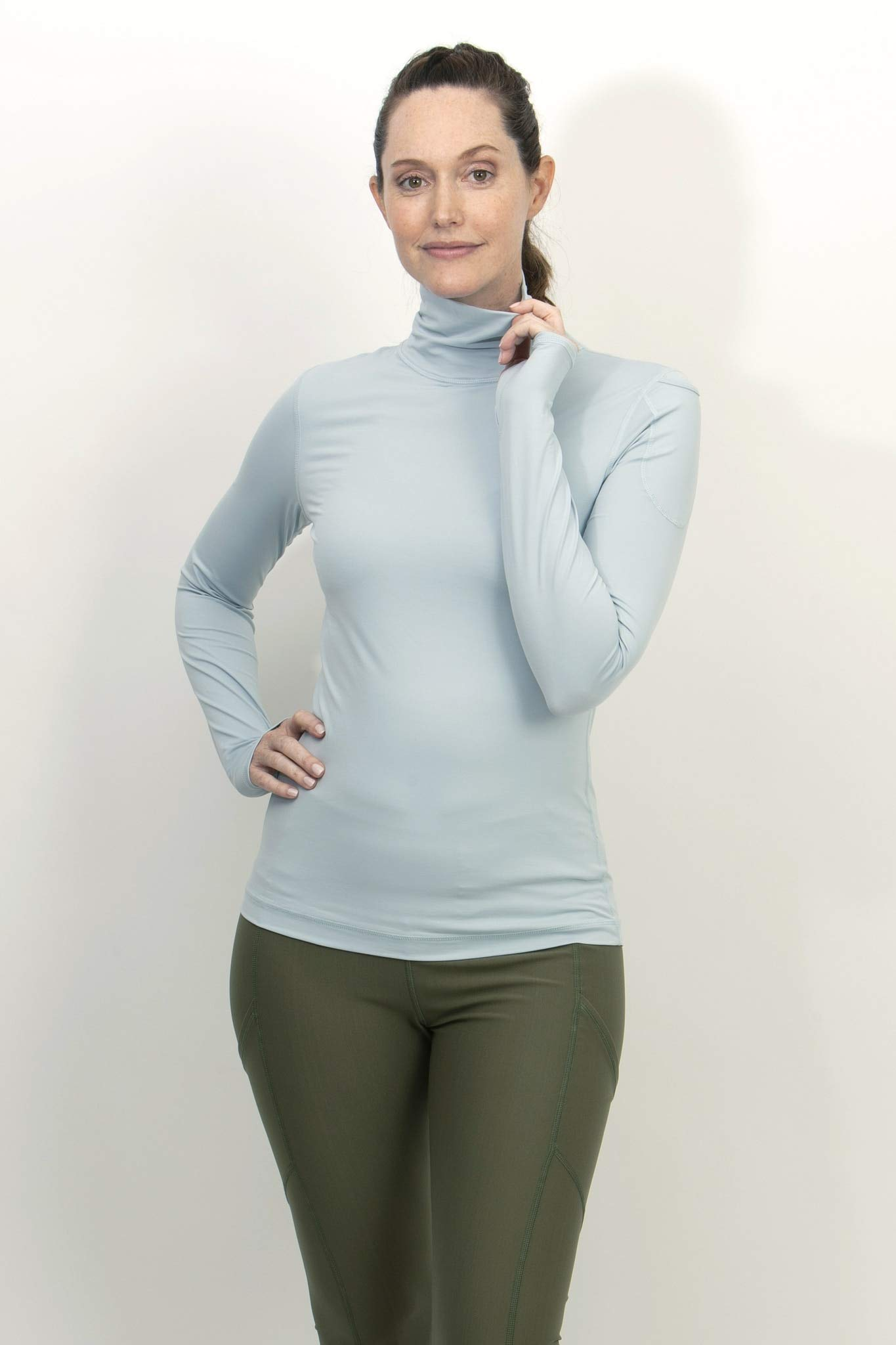 BloqUV Women's Turtleneck Soft Gray XS