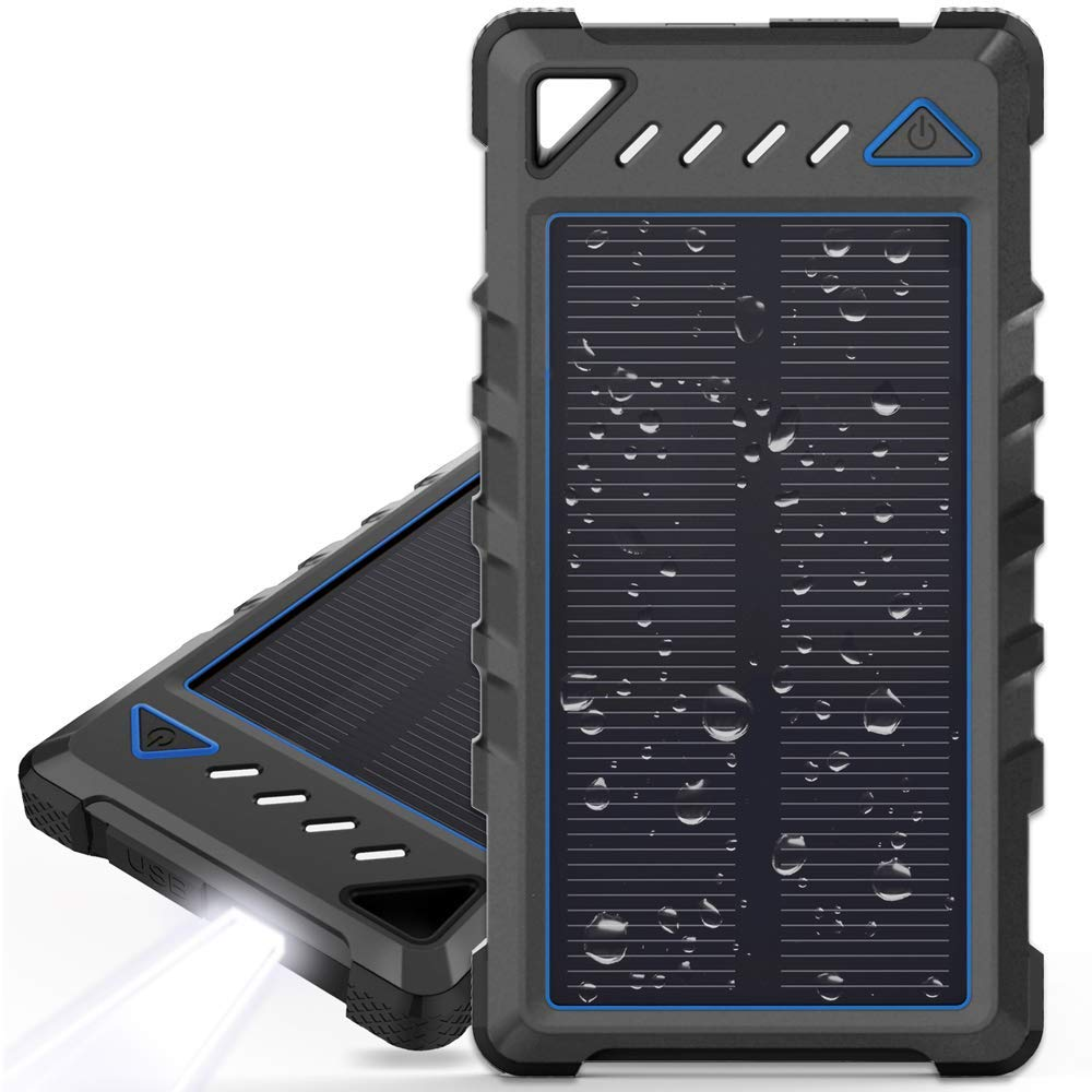Portable Solar Charger, BEARTWO 10000mAh