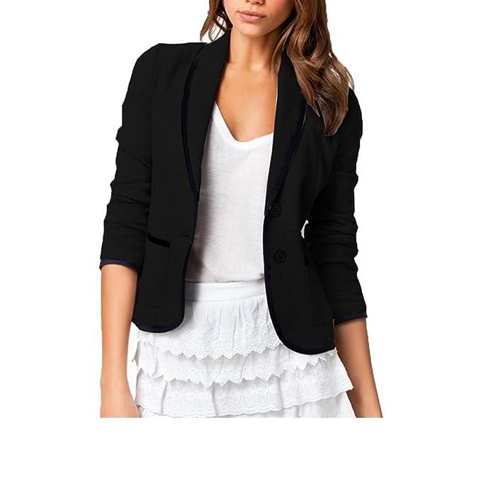Amazon.com: dickin Mujer Fashion Slim diseño de solapa ...