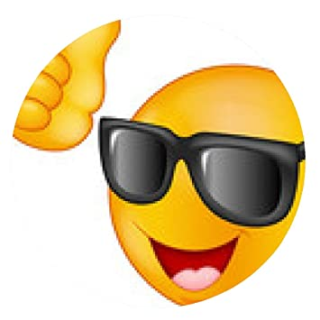 alfombrilla de ratón Sonriendo emoticon con gafas de sol ...