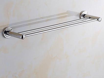 Sucastle Acero Inoxidable Barra de Toalla Colgador de Toallas baño Barra Doble toallero Cuarto de baño