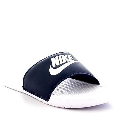 59ace8377 Nike Men's Benassi JDI Mismatch Flip Flops, Black (Black/Laser Orange-White