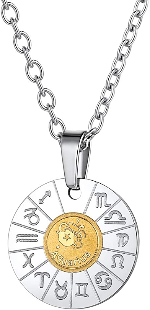 Horoscope Sign Symbols Custom Personalized Jewelry Gold Filled Custom Jewelry Birthday Gift Zodiac Necklace For Women or Men