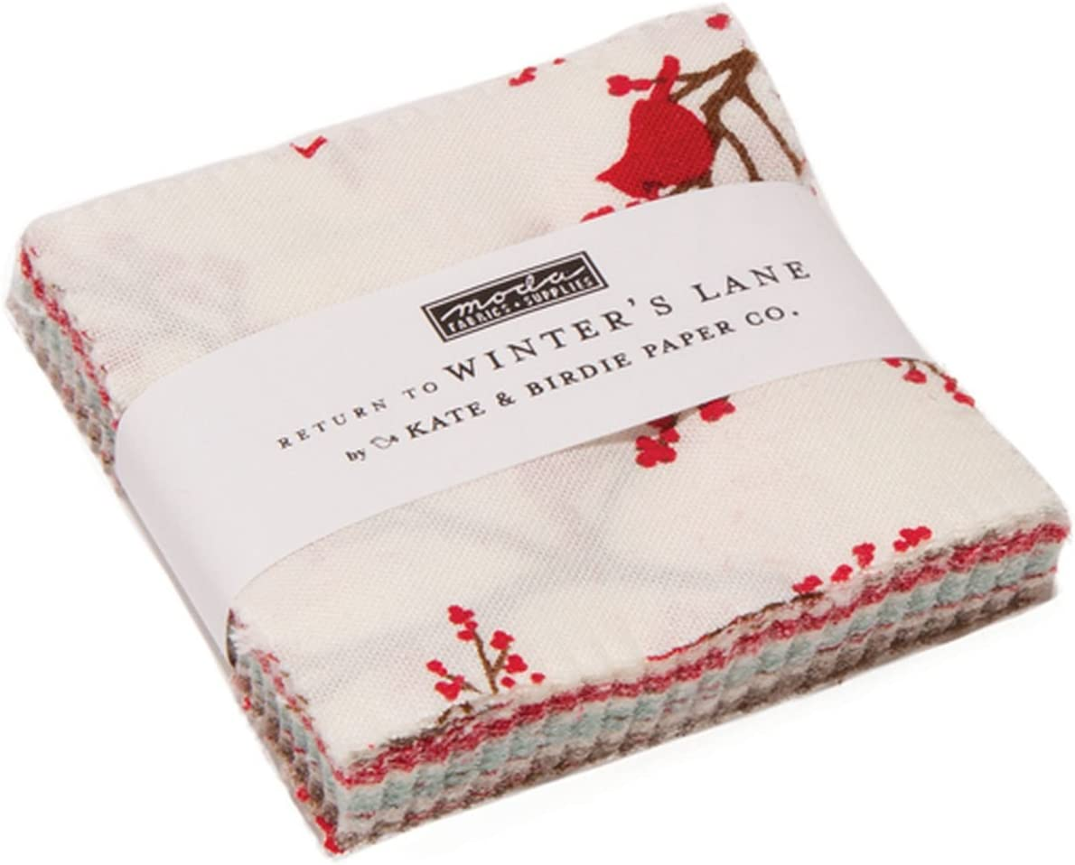 Good Tidings Charm Pack by Brenda Riddle Designs; 42-5 Inch Precut Fabric Quilt Squares