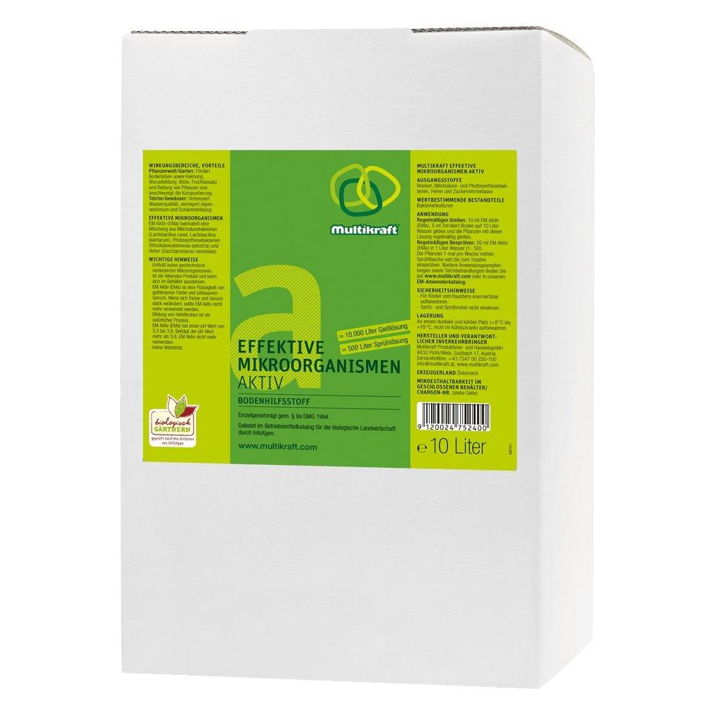 Efectiva microorganismos activo (EM de suelo activo), plástico - Abono - 10 litros Caja/bag: Amazon.es: Jardín