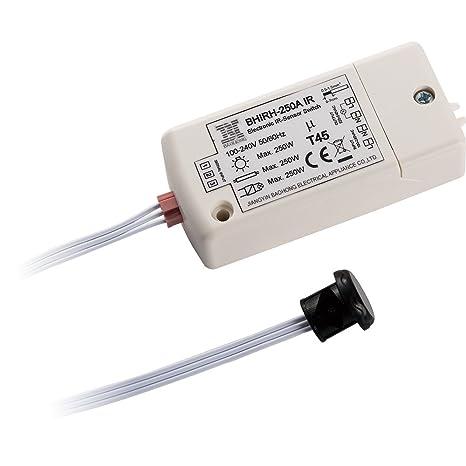 Interruptor infrarrojo del sensor BHIRH-250A voltaje dual 100-240V luces inteligentes interruptor de