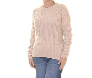 Karen Scott Women's New Khaki Marl Sweater Size L