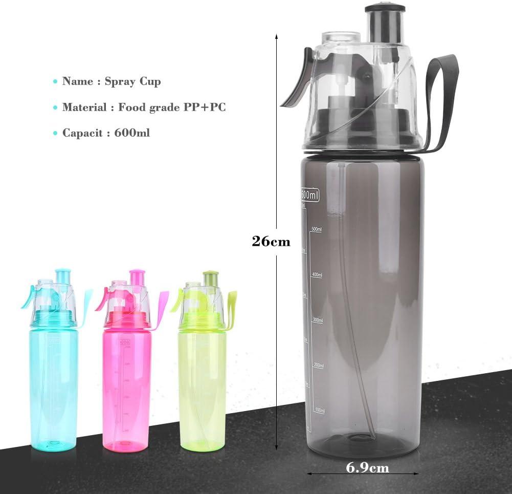 Culater/® 600ML Outdoor Sport Water Bottle Mist Spray Gym Water Bottle Leak-proof Drinking Cup