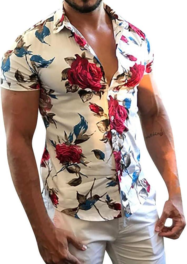 Overdose Camisas Hombre Estampadas Manga Corta Fiesta Vestir ...