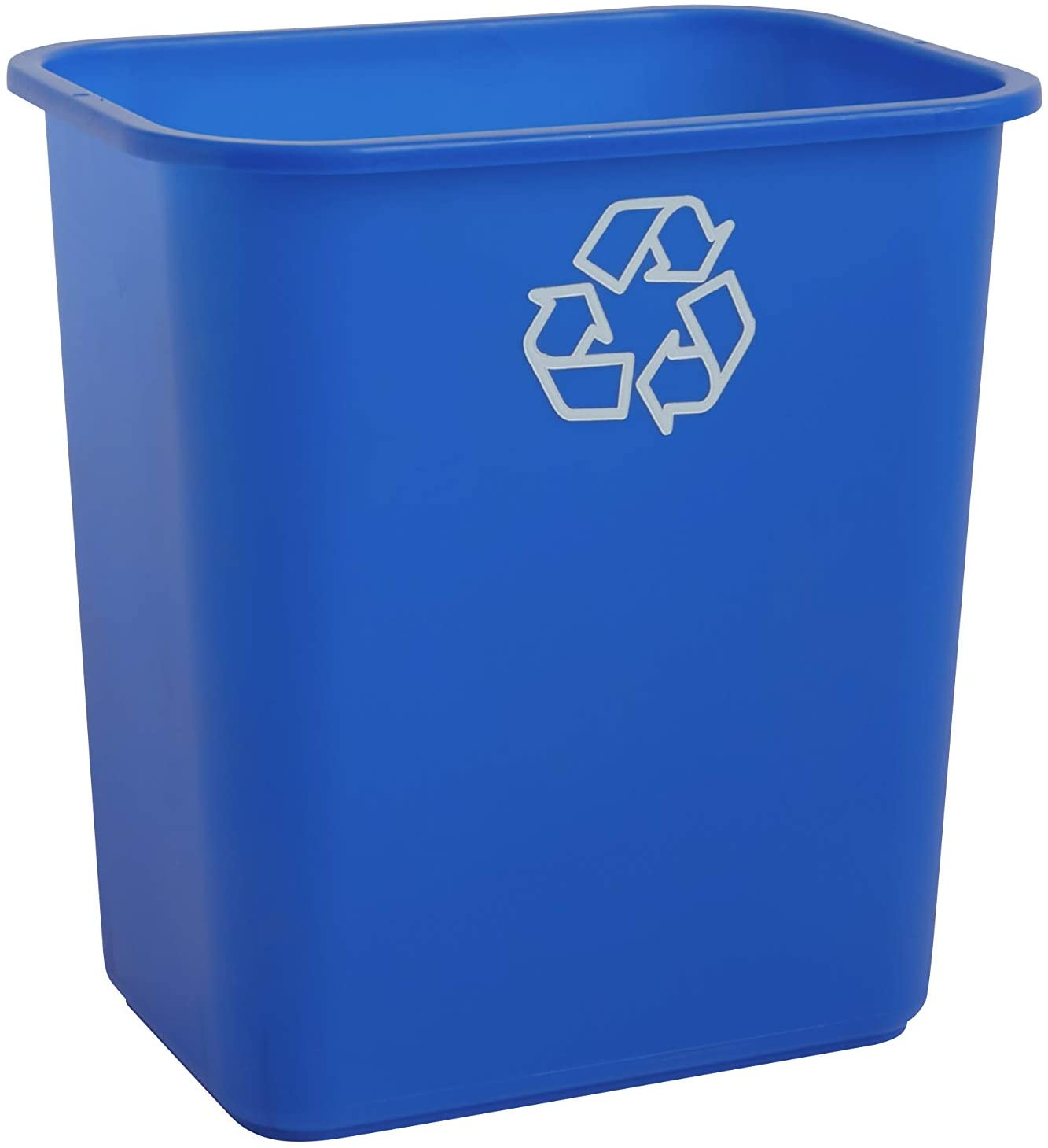 United Solutions 7 Gallon/28 Quart Efficient Recycle Wastebasket   Fits Under Desk   Small, Narrow Spaces in Commercial, Kitchen, Home Office, Dorm   Easy to Clean, 1 Pack, Blue: Home & Kitchen