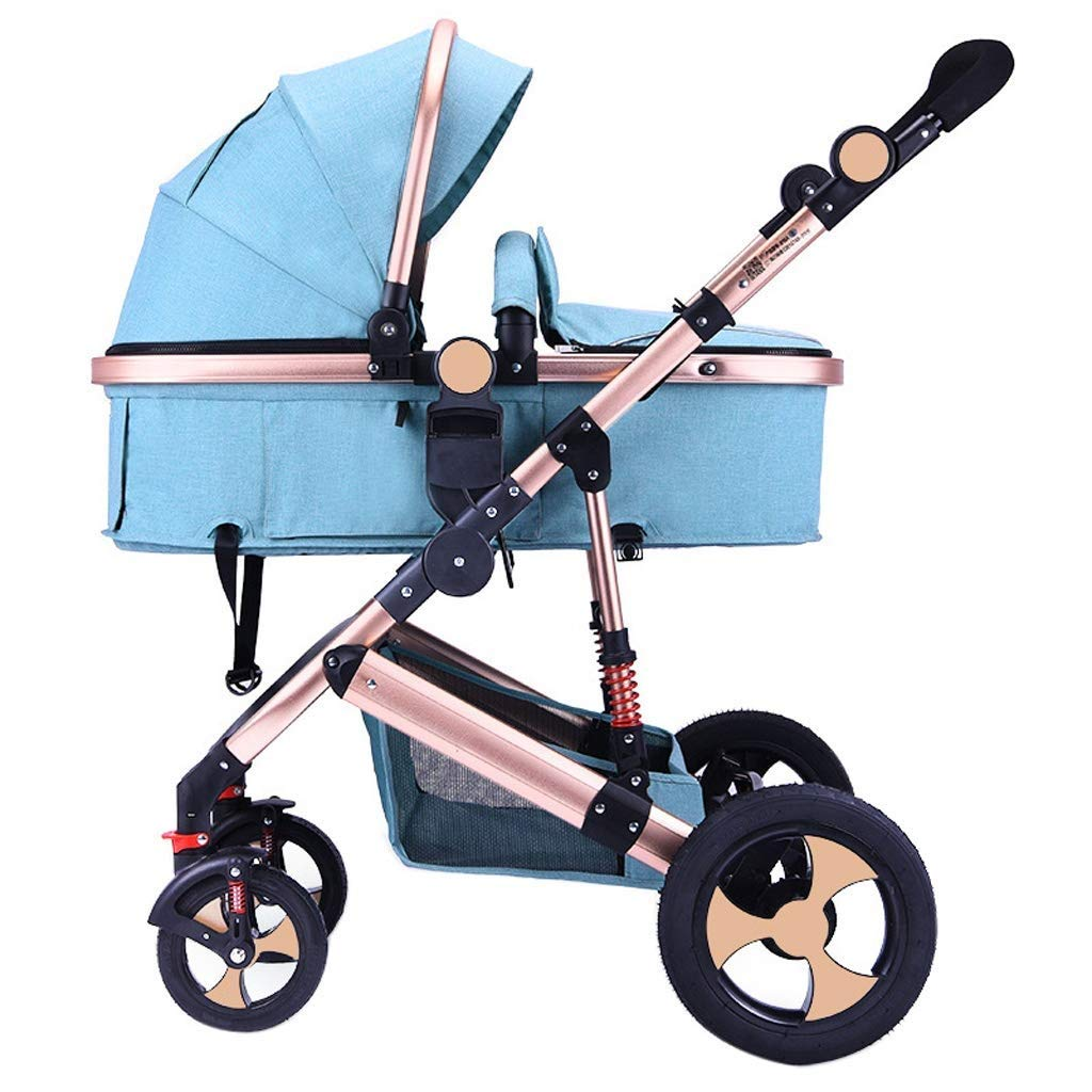 Zsail High Landscape Baby Stroller Newborn Infant Pushchair Travel System Suitable from Birth to 36 Months (Color : A)