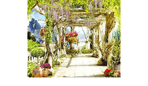 AOFOTO - Papel pintado para mujer, diseño vintage de terraza con ...