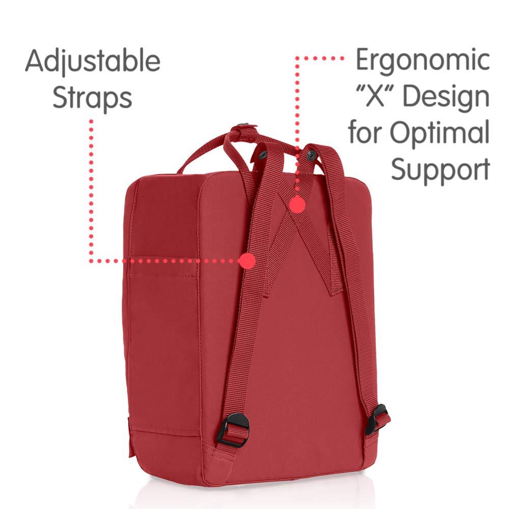 Fjallraven - Kanken Classic Backpack for Everyday, Deep Red by Fjallraven (Image #3)