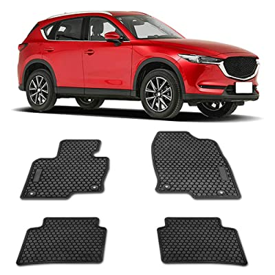 TRAXAUTO Floor Liner Mats for Mazda CX-5 CX5 2020-2020, Heavy Duty Rubber and Odorless Front Rear Seat Floor Mats Custom fit- All Weather Protection (4PCS): Automotive